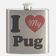 I Heart My Pug Flask
