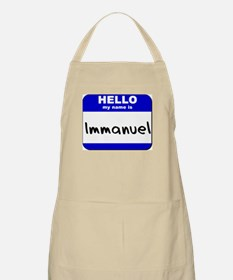 hello my name is immanuel  BBQ Apron