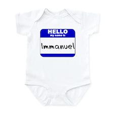 hello my name is immanuel  Infant Bodysuit