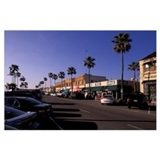 California, Newport Beach. Downtown by the pier Poster