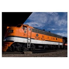 Royal Gorge Railroad. Train station Canvas Art