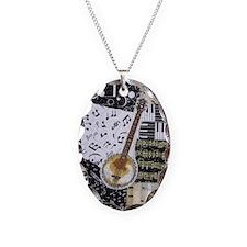 Banjo Necklace Oval Charm
