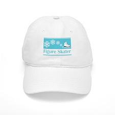 Figure Skater Turquoise Ice Skate Baseball Cap