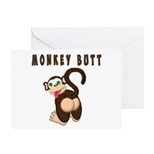 Monkey Butt New Begining Greeting Cards