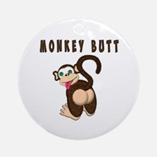 Monkey Butt New Begining Ornament (Round)