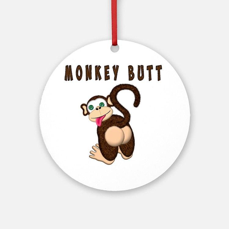 Monkey Butt New Begining Ornament (Round)