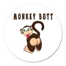 Monkey Butt New Begining Round Car Magnet
