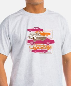 P76 montage in pink and orange T-Shirt