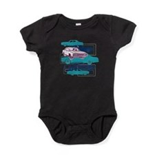 P76 blue teal and plum Baby Bodysuit