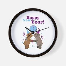 Happy New Year! Wall Clock