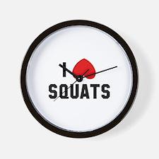 I Love Squats Wall Clock