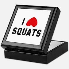 I Love Squats Keepsake Box