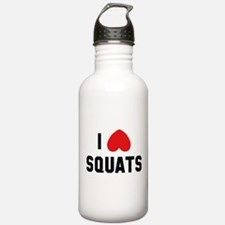 I Love Squats Water Bottle
