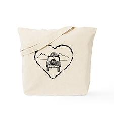 Jeep Love B&W Tote Bag