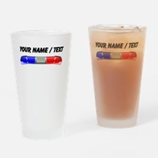 Red And Blue Police Lights Drinking Glass