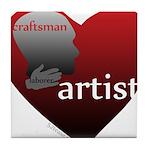 Art Takes Heart Tile Coaster