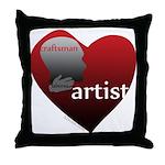 Art Takes Heart Throw Pillow