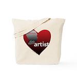 Art Takes Heart Tote Bag