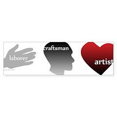 Art Takes Heart Bumper Bumper Sticker