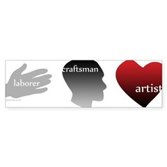 Art Takes Heart Bumper Bumper Sticker