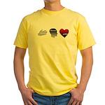 Art Takes Heart Yellow T-Shirt