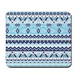 Mix #529, Blue Aztec Mousepad