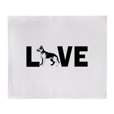 Love dogs Throw Blanket