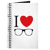 I love glasses Journals & Spiral Notebooks