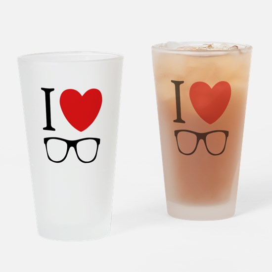 I Love Drinking Glass