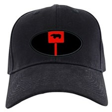 RED BEAR CROSSING SIGN/BLK Baseball Hat