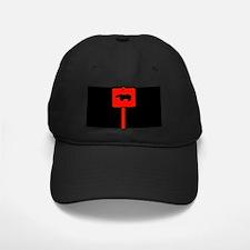RED BEAR CROSSING SIGN/BLK Baseball Hat