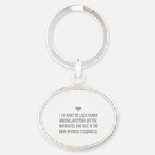 Wifi Router Oval Keychain