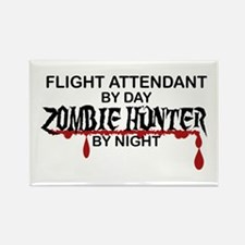 Zombie Hunter - Flight Attendant Rectangle Magnet
