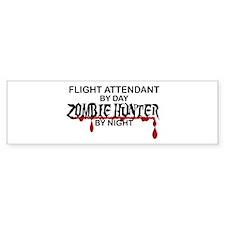Zombie Hunter - Flight Attendant Bumper Sticker