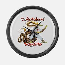 Shotokan Karate Dragon Design Large Wall Clock