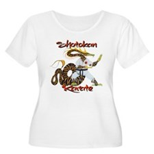 Shotokan Karate Dragon Design Plus Size T-Shirt