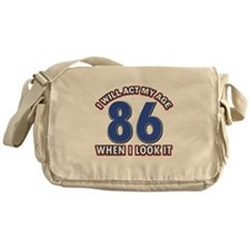 Act 86 years old Messenger Bag