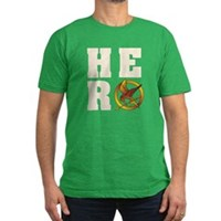 Hunger Games Hero Men's Fitted T-Shirt (dark)