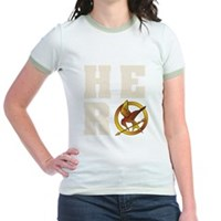 Hunger Games Hero Jr. Ringer T-Shirt