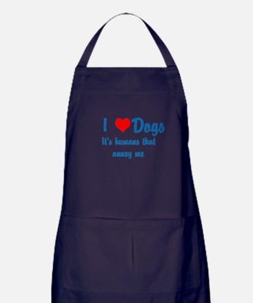 Humans annoy me Apron (dark)