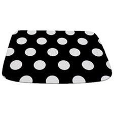 Large Black Polka Dot Bathmat