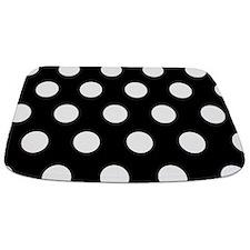 Large Black Polka Dot Bathmat