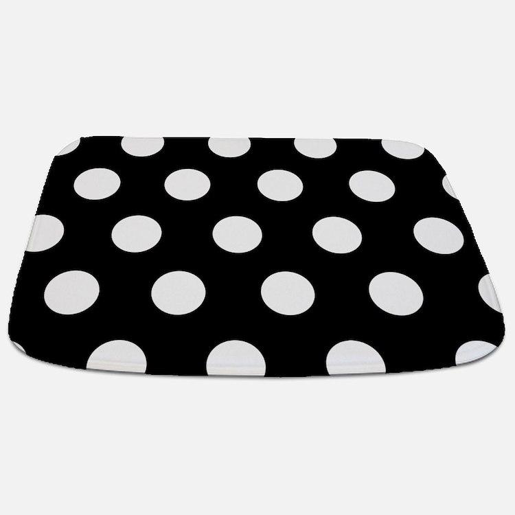 Vintage black and white polka dot bathroom accessories for Black and white polka dot decorations