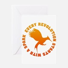 Every Revolution Starts With A Spark Greeting Card