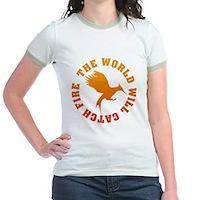 The World Will Catch Fire Jr. Ringer T-Shirt