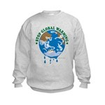 Earth Day : Stop Global Warming Kids Sweatshirt