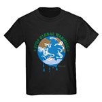 Earth Day : Stop Global Warming Kids Dark T-Shirt