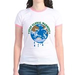 Earth Day : Stop Global Warming Jr. Ringer T-Shirt