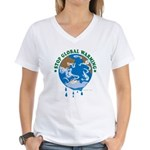 Earth Day : Stop Global Warming Women's V-Neck T-S