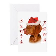 Santa Paws Vizsla Greeting Cards